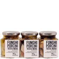 Funghi porcini testa nera in olio - 3 vasetti