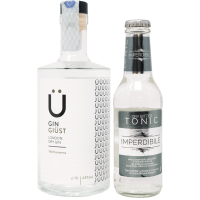 Kit Gin da 70 cl e 12 bottiglie di acqua tonica - Gin Giüst